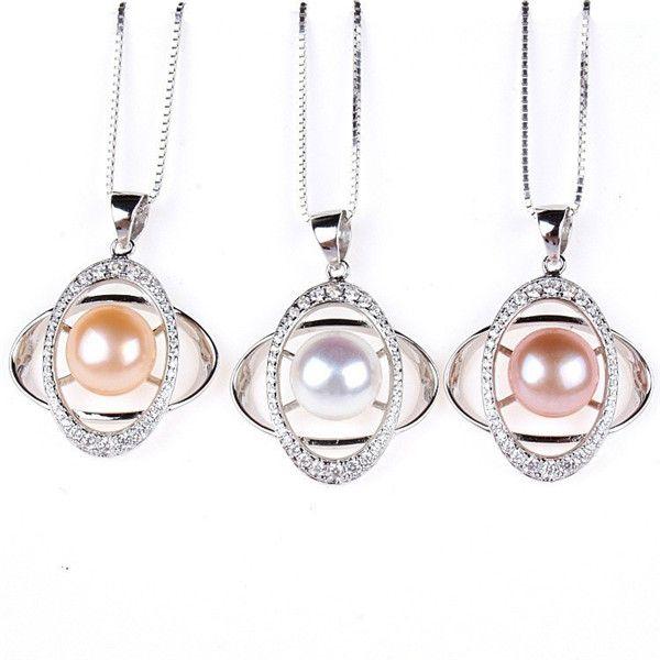 S925 Sterling Silber Anhänger globalen Stern Perle Anhänger Silber Halskette Schmuck Export