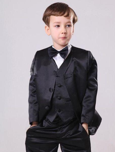 2015 Boy's Formal Wear Suits Notch Lapel Baby Kids Formal Occasion Wedding Party Children Tuxedos (Jacket+Pants+Tie+Vest)