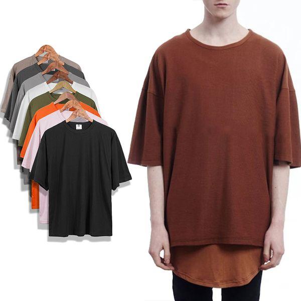 Nouveau Style Kanye West T-shirt Hommes 100% Coton Surdimensionné Casual Shirt À Manches Courtes Hip Hop Tee Hommes Femmes Streetwear Plain Tees Tops Tops MJG0314