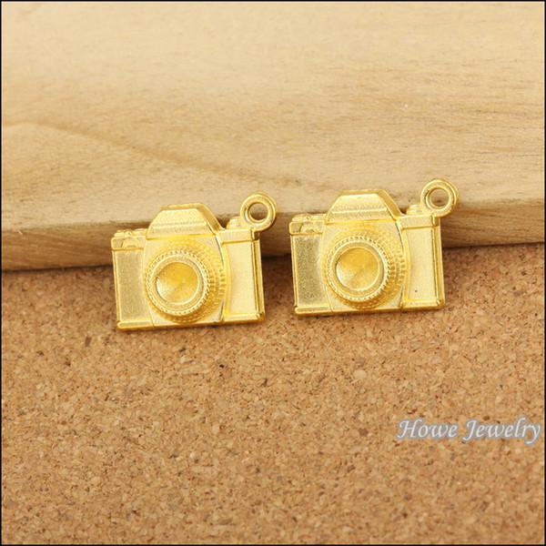 Moda Charms fotocamera lega d'oro pendente del metallo Adatto Bracciali gioielli accessori fai da te trovare 70 pezzi 16 * 21mm 80.096