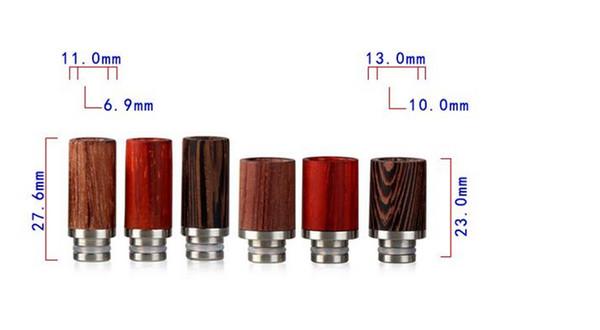 Drip tips per Ecig 510 in legno di rosa Fashion design per RDA Wide Bore Style e puntali per gocce di sigarette RDA drip tips di alta qualità