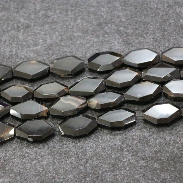 10pcs/1Strand Black Druzy Agate Gemstone Beads, Natural Slice Slab Drusy Druzy Agate Necklace Pendant Connector Jewelry Make Wholesale Price