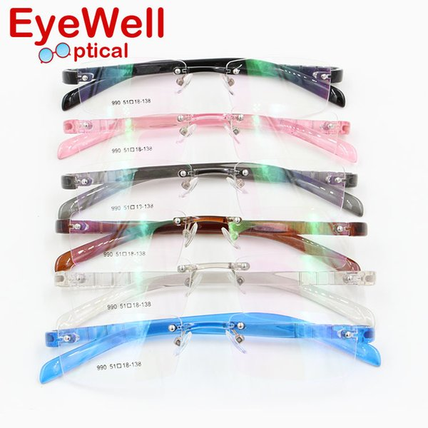 wholesale most popular colorful pc rimless eyeglasses frame for men and women flexible eyewear comfortable - Most Popular Eyeglass Frames