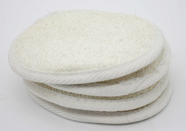 top popular 12x9cm Natural Loofah Sponge Body Rub Loofah Pad Paddle Cushion Skin Massage Body Exfoliating Remove Dead Skin Health Care 2019