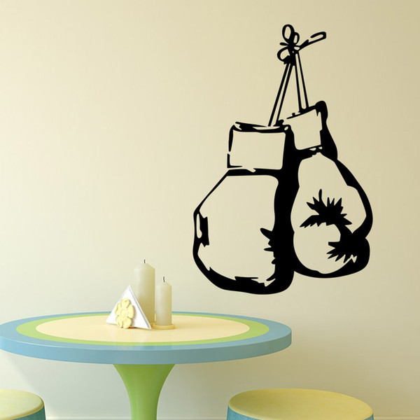 One Pair of boxing gloves wall decoration sticker for boy's bedroom removable art graphics