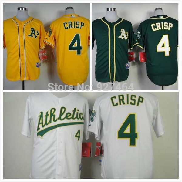 30 teams 2014 cheap stitched oakland athletics 4 coco crisp green yellow 2015 coco crisp oakland athletics authentic alternate green cool base jersey