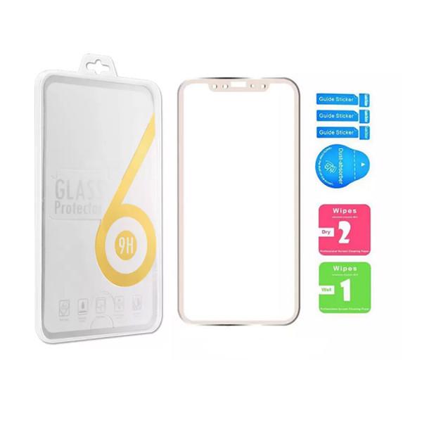 Für Iphone X Titan-Rand-ausgeglichenes Glas-Schirm-Schutz-voller Abdeckungs-Schirm Film 0.26mm 2.5D 9H explosionsgeschützt für Iphone 8 mit Kleinkasten