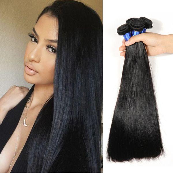 8A Grade Straight Peruvian Hair 3 Bundles Silk Straight Unprocessed Malaysian Hair Bundles Mink Brazilian Indian Hair Extensions Cheap Price