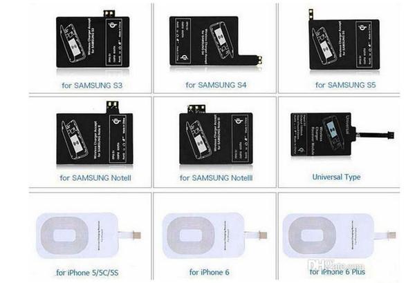 Qi-ladegerät Empfänger Drahtlose Ladeadapter Empfänger Für iphone 5 s 6 6 s plus samsung galaxy s3 s4 s5 note 3 4