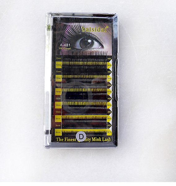 High Quality 100% Human Hair Solid Color Special Eyelash, Finest Quality Lash, Black color, 10mm