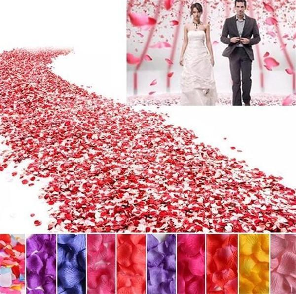 Decorations Artificial Dried Flowers 100pcs Silk Rose Flower Petals Leaves Wedding Decoration Artificial Fake Flower Petal Table Confetti...