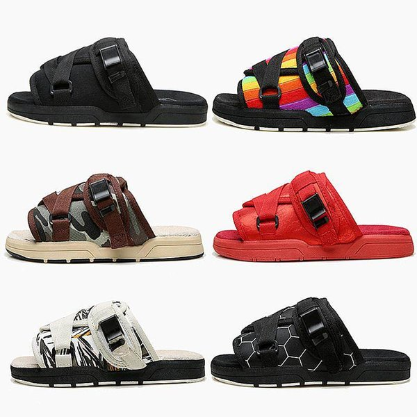 best selling New Brand Visvim Slippers Fashion Shoes Man And Women Lovers Casual Shoes Slippers Beach Sandals Outdoor Slippers Hip-hop Street Sandals