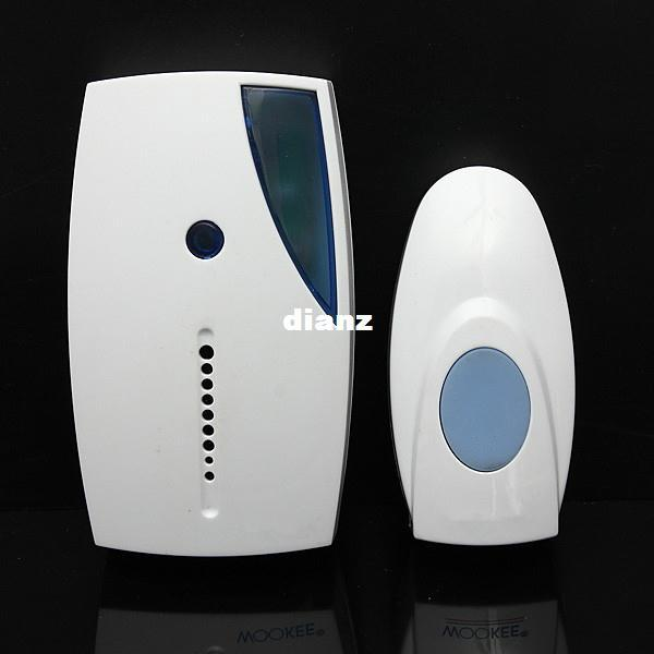 best selling New Arrive White Portable Mini LED 32 Tune Songs Musical Music Sound Voice Wireless Chime Door Room Gate Bell Doorbell + Remote Control