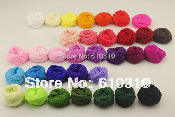 Atacado-Frete Grátis atacado 2.5m Multicolor flor Nylon material de lotação acessório handmade diy flor de nylon meia (30 pçs / lote)