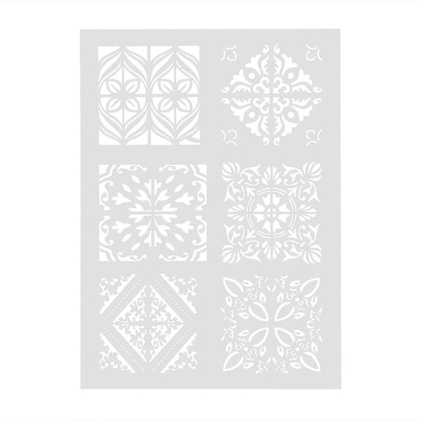 DIY Flower Pattern Plastic Cake Stencil Mold Lace Pad Spray Flower for Wall Painting Cupcake Decoration Baking Tool Moulds