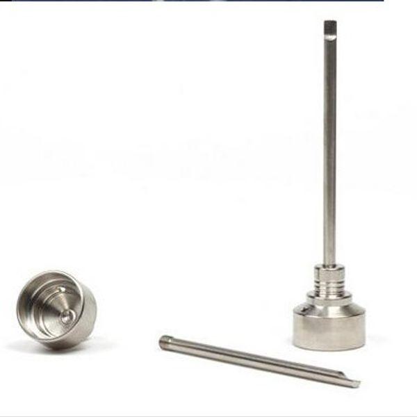 top popular G2 Titanium Carb Cap Tool Domeless Titanium Nail TitaniumTi Nail 10mm 14mm 18mm Titanium Dab Tool with Carb Cap Dabber Grade 2 2021
