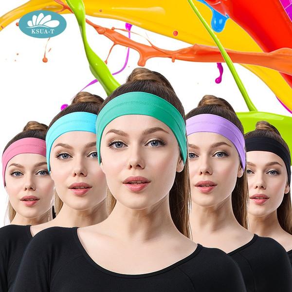 Solid Cotton Headband Size 20*7cm Man and Women Sport Yoga Elasticity Sweatband Headband Hairwear Hair turban Accessories