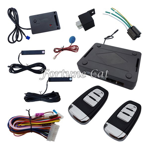 Rolling Code PKE Car Alarm System With Passive Keyless Entry Power Window Output Automatically Lock Unlock Car