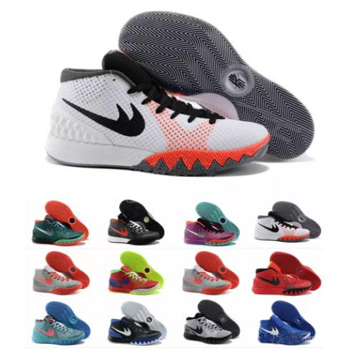 online store 7e84e 165bf New Kyrie Irving Men Basketball Shoes Retro Kyrie 1 Dream Deceptive Red  Christmas Basketball Outdoor Sneakers High Quality Size 40 46 Shoes Jordans  ...
