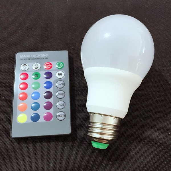 Rgb Led Bulb E27 7w With Remote Control Dimmable Lampada Led 110v 220v Led Christmas Lights Led Replacement Bulbs Led Light Bulbs For Home From
