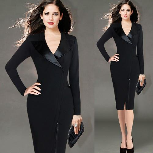 European Ladies Office Dresse for Womens 2019 Work Dresses Suit Long-sleeved Pencil Dresses for Autumn and Spring Women Dress