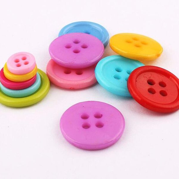 MLBHUT 4 Hole Resin Sewing Buttons For Sewing Scrapbooking Knitting Scrapbooking Clothing Simple Nice Bottons Decoration