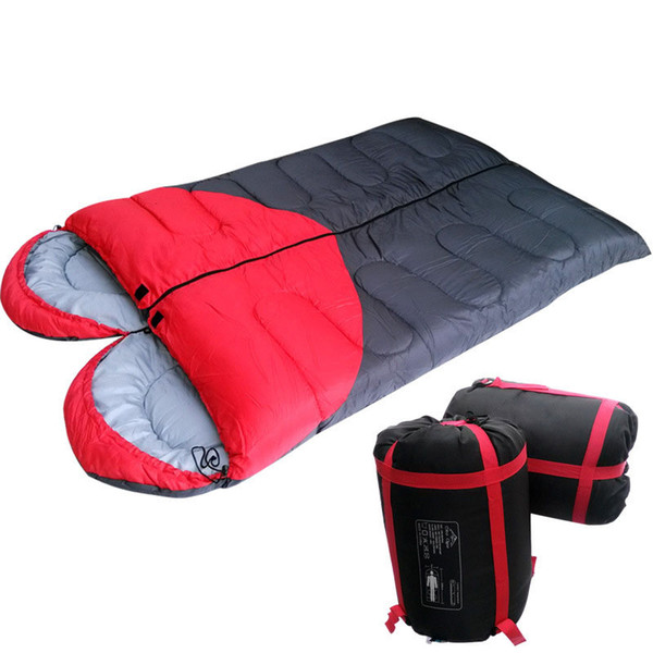 Amour Coeur Couple Pliant Camping Sac De Couchage Rectangulaire Double Contraste Couleur Backpacking Sac De Couchage Travel Gear Randonnée Fournitures SK415
