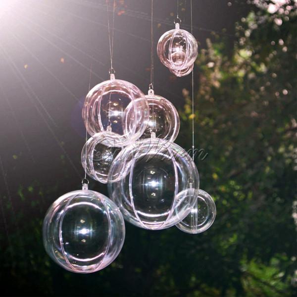 Großhandel 10 Stücke 100mm Transparent Acryl Ball Hochzeit Dekoration Fillable Ornament Kugel Hochzeit Gefälligkeiten Und Geschenke Box Von Oppodo