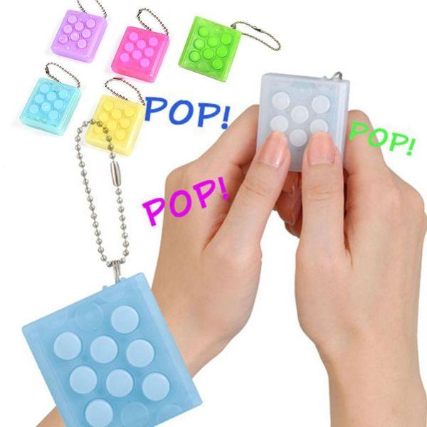 top popular Puchi Puchi Keychain Puti Electronic Bubble Keyring Pop Decompress toy Puchi Keychain Anti Stress Toys KKA2775 2020