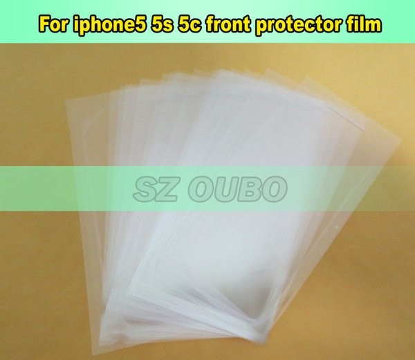 Front Clear Screen Protector Screen Protective Film For Apple iphone 5C 5S 5 5G Refurbishment 500pcs/lot DHL free