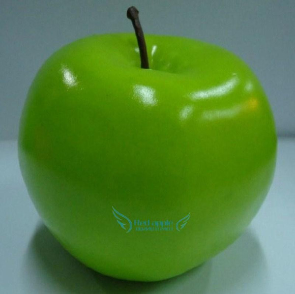 8.5cm Large green apple Artificial Fruits Simulation green Apple home decor wedding party Decorations supplies