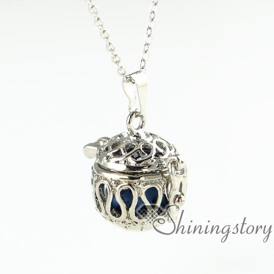 best selling openwork wholesale diffuser necklace essential oil necklace aromatherapy necklace diffuser pendant
