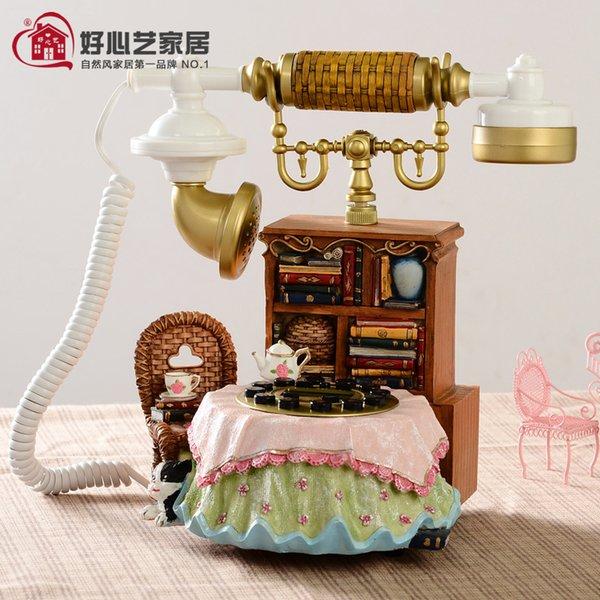 Новый античный телефон стационарный дом Европейский ретро мода творческий пастырской фиксированной стационарный проводной