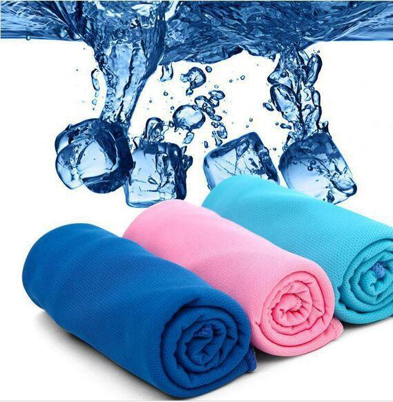 top popular Cold Towel Exercise Sweat Summer Sports Ice Cool Towel PVA Hypothermia Cooling Towel 90*35cm for Children Adult 2015 Hot 2019
