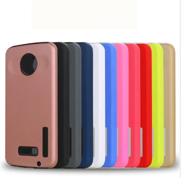 100pcs/lot Dual Layer Back Covers Defender Armor Cell Phone Case For Motorola Moto C Plus E4 Plus Z2 play