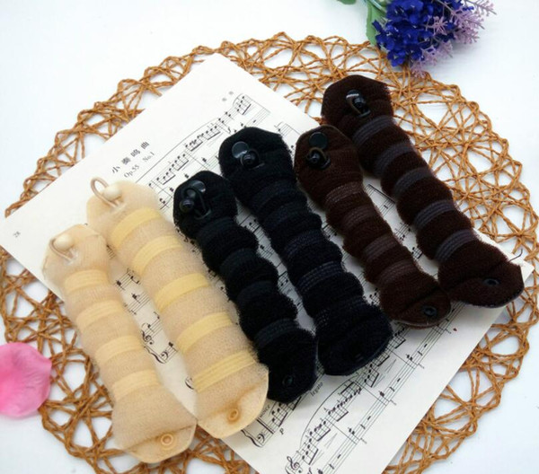 best selling Free Shipping 400pcs per lot (1pack=2pcs) Hair Accessories Bun Maker Hair Twist Curler Tool Fashionable Hair Accessory, OPP bag package