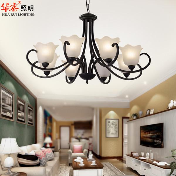 lmparas de hierro forjado loft iluminacin de estilo industrial lmpara colgante retro flor negro lmparas colgantes