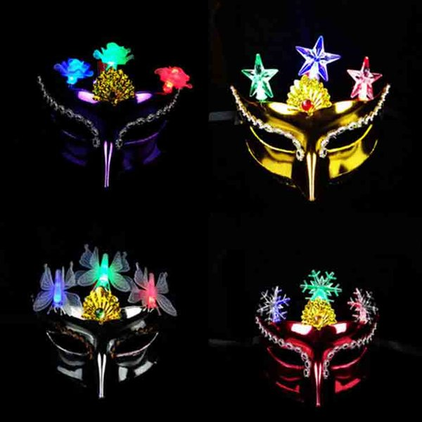 Color Shiny Beauty Sex Mask Half Face EVA Masquerade Party Princess Mask Halloween Cosplay Performance Props Festive Supplies 20pcsSD443