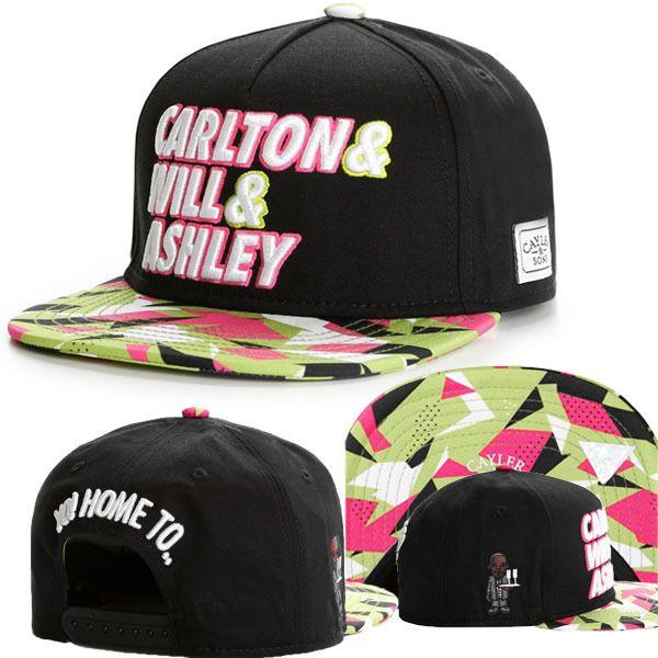 top popular Cayler And Sons Fresh Prince Carlton Will Ashley 90s Neon Black Snapback Hat Cap,Hot Christmas Sale, Hat,Fashion Street cap 2021