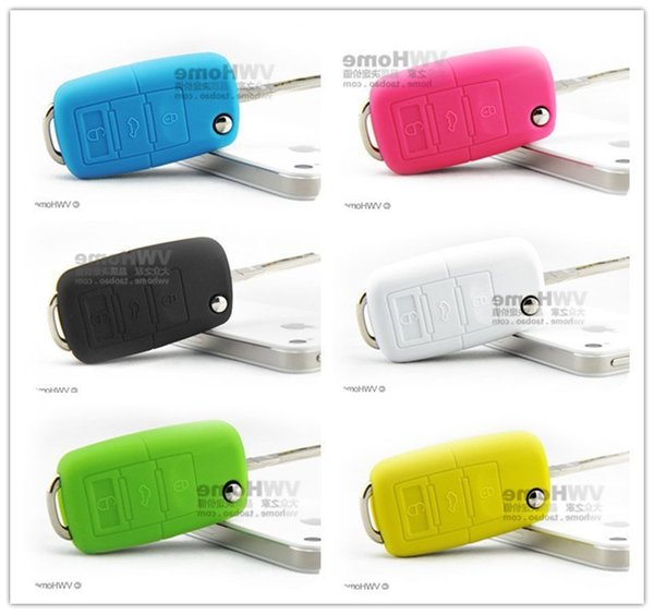 Hot Sale VW Silicone Remote Key Fob Cover Holder Car Key Protective Case for VW Golf Bora Jetta POLO Passat 1203#03