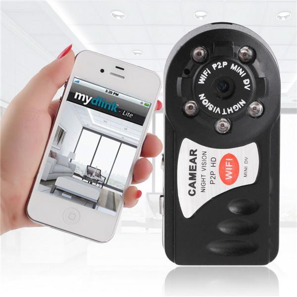 1pc Top Vendita Wireless WIFI P2P Mini Telecamera di sorveglianza di sicurezza remota per Android per IOS PC