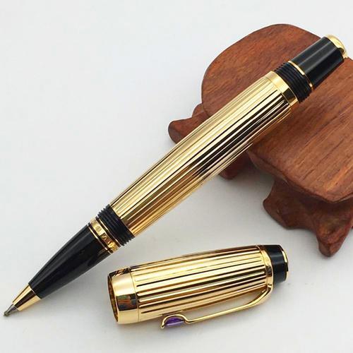 stylo à rouleau de dessin d'or