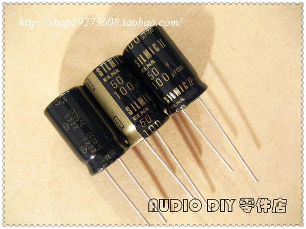 30PCS ELNA SILMIC II on behalf of the 100uF/50V audio with electrolytic capacitor (2012 origl bag origl box) free shipping