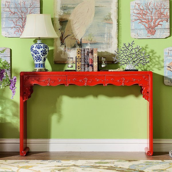 Pole home found the new classical Chinese carved wood furniture Yunxuan sofa back several console table desk reads