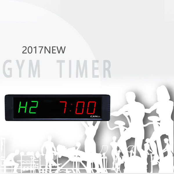 [GANXIN]Wholesale Hot Sell 1 inch 6 Digits Led Digital GYM/ Fitness Timer Yoga/Fighting Training Clock Electronic Factory Supply