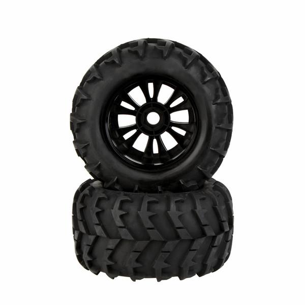 2Pcs RC 1/8 Car Wheel Rim and Tire 810006 for Traxxas HSP Tamiya HPI Kyosho RC Car order<$18no track