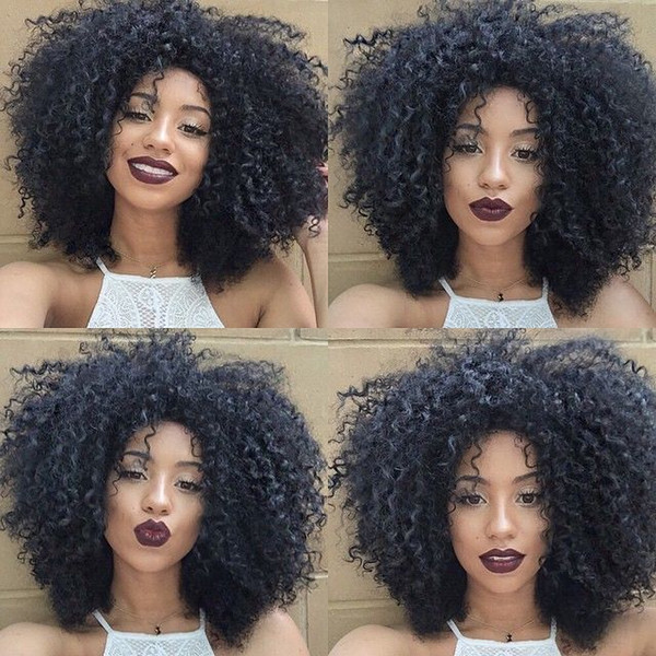 Hot Sell 4a,4b,4c Brazilian kinky curly Clip In human Hair Extensions Full Head natural color G-EASY clips for african american hair