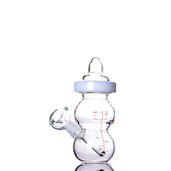 Portable Cute Baby Bottle Small Dab Bong Water Pipes for Sale 6 Inches and 14mm Joint