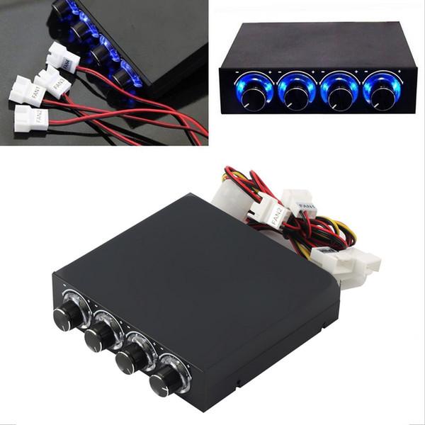 Vente en gros- 3.5inch PC HDD CPU 4 canaux contrôleur de vitesse du ventilateur Led Promotion du panneau avant de refroidissement en gros Magasin