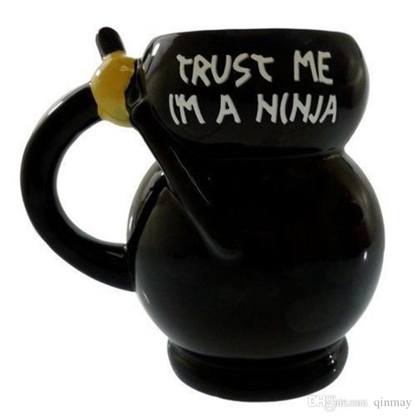 12 oz Ninja Kupa Kişilik seramik kahve kupa çay bardakları dringking bardak ücretsiz kargo drop shipping